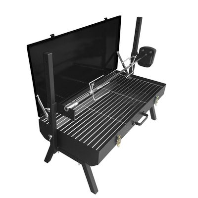 Mini Spit Roaster Charcoal BBQ - Black