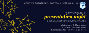 2019 Presentation Night