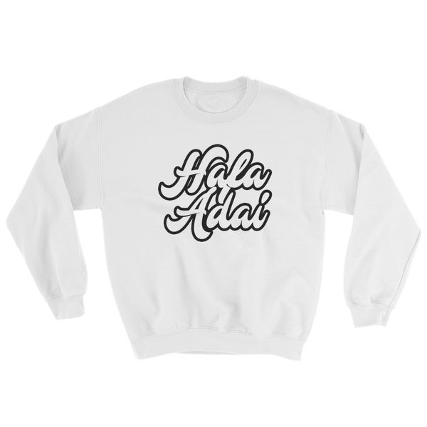 Hafa Adai Crew Neck Sweat Shirt: Black and White