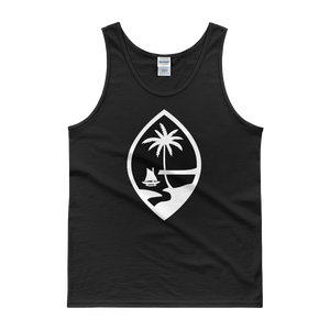 Guam Seal Mens Tank Top: Black and Grey