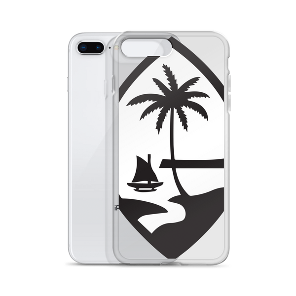 Large Guam Seal Black and White iPhone Case
