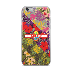 When In Guam OG Floral iPhone Case