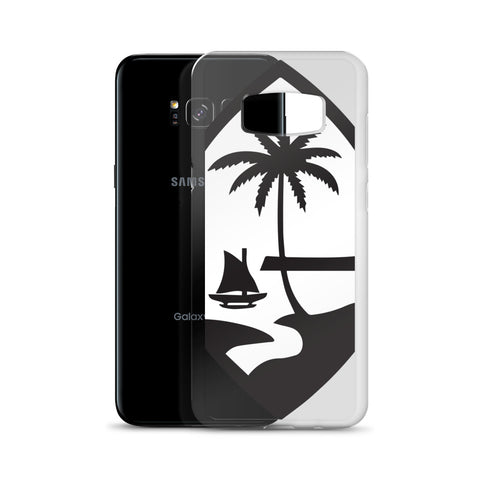 Large Guam Seal Black and White Samsung Case