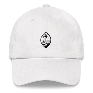 Guam Seal Dad Hat: White