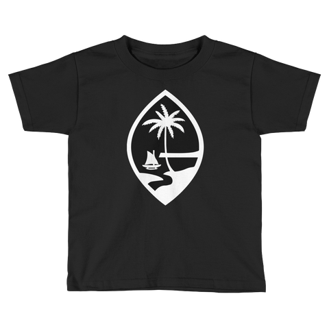 Kids Guam Seal Tee: Black