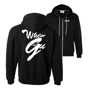 #GU Zip Up Hoodie: Black