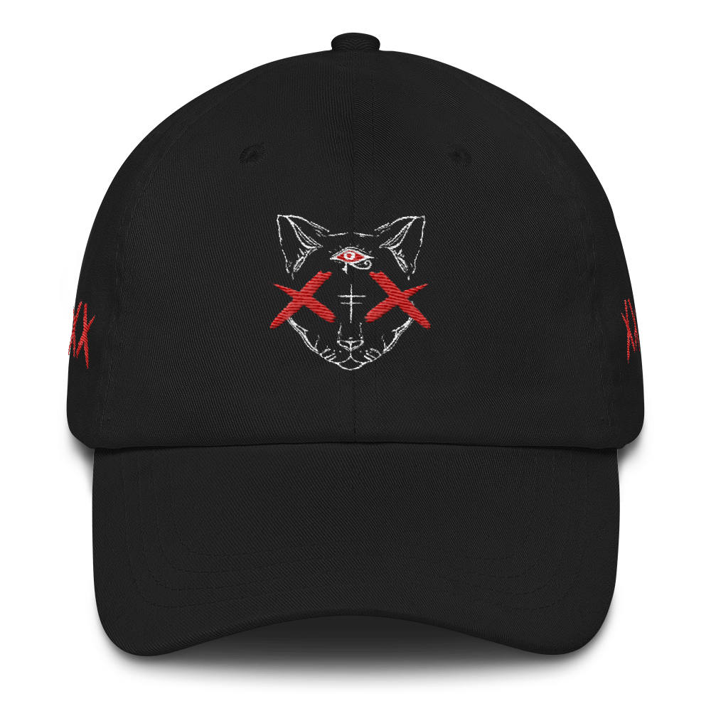 Red Bast Cap (Black)