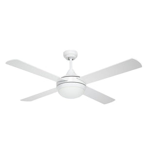 "BRILLIANT BRIGHTON 52"" CEILING FAN WITH LIGHT & REMOTE WHITE"