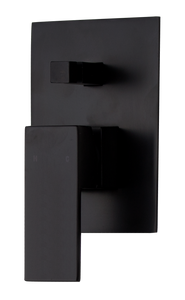 Brasshards Kubos shower diverter matt black