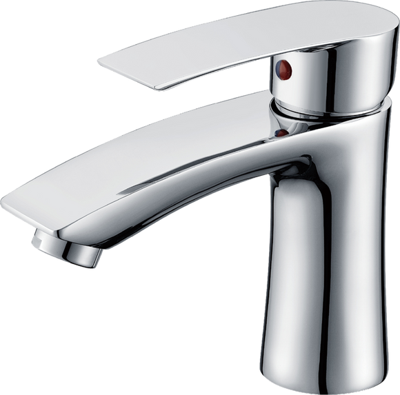 Brasshards Contour basin mixer