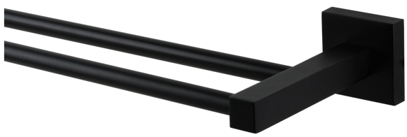 Brasshards Mixx square 750mm double rail matt black