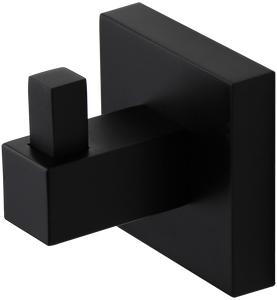 Brasshards Mixx square robe holder matt black