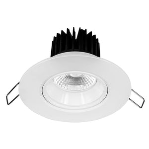 Illumina cob LED round gimbal downlight 8W cool white 4000K
