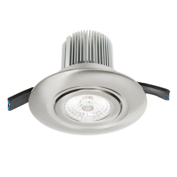 Luxor LED round gimbal downlight 12W cool white 4000K brushed nickel