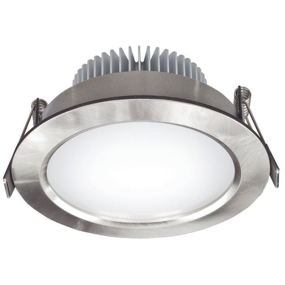 Umbra LED round diffused downlight 11W warm white 3000K brushed nickel