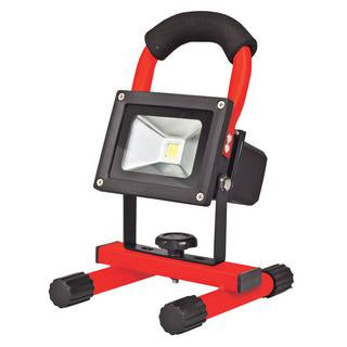Portalamp 10W LED rechargeable floodlight red