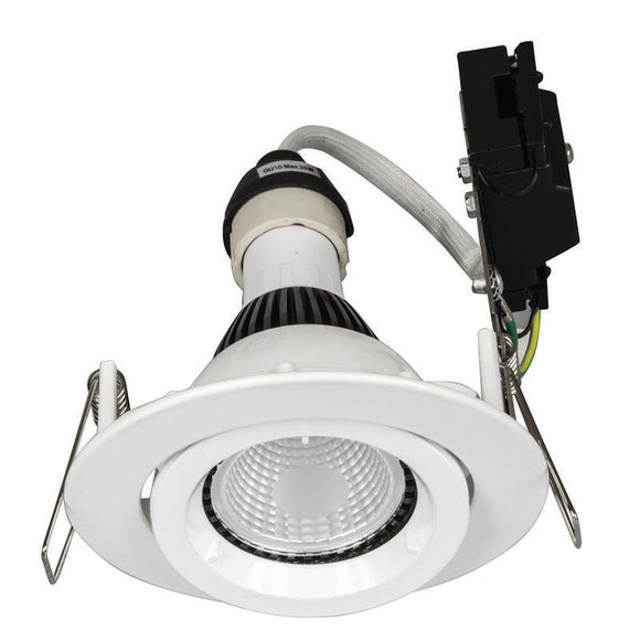 Downlight frame GU10 gimbal white