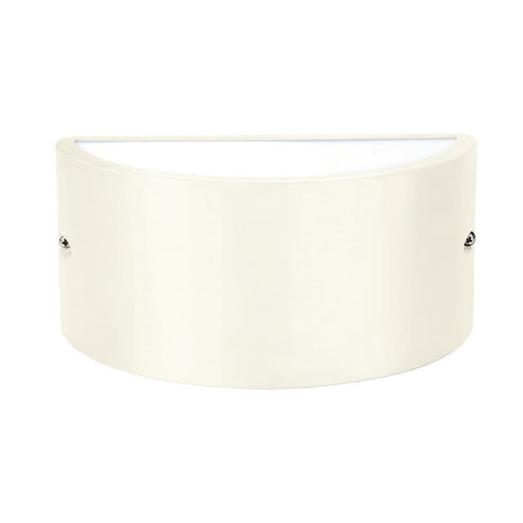 Chatri curved up/down wall light beige