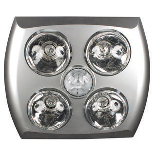 Majestic 4+1 light 3-in-1 bathroom mate silver