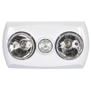 Majestic 2+1 light 3-in-1 bathroom mate white