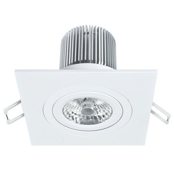Luxor LED square gimbal downlight 12W cool white 4000K white