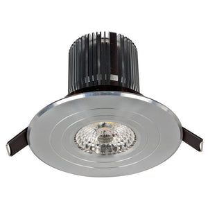 Luxor LED round fixed downlight 12W 3000K anodised aluminium