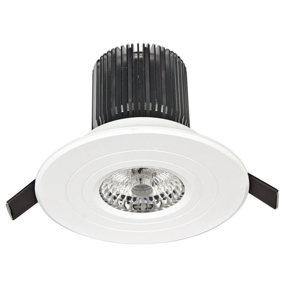 Luxor LED round fixed downlight 12W cool white 4000K white
