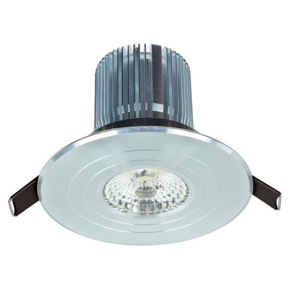Luxor LED round fixed downlight 12W cool white 4000K stainless steel