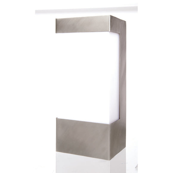Lancet rectangular wall light stainless steel