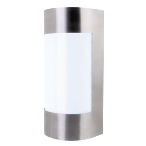 Lancet curved wall light stainless steel