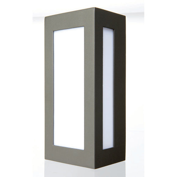 Eave rectangular edged wall light charcoal