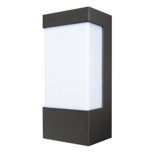 Eave rectangular open-faced wall light