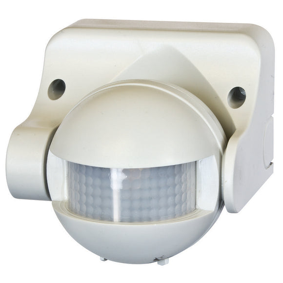 Uni-scan 180 degree security PIR sensor white