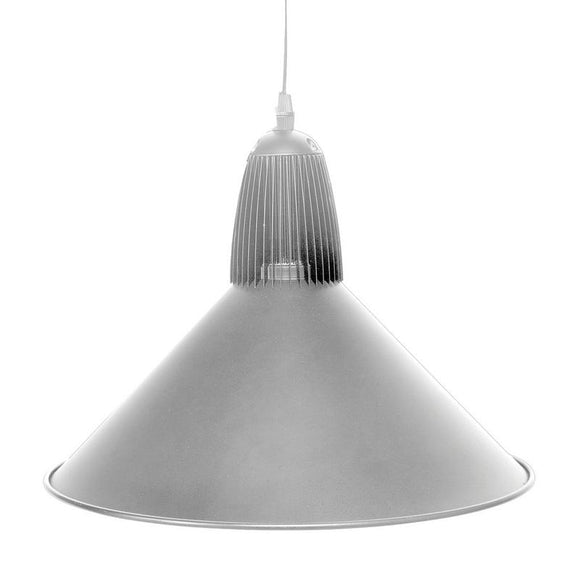 Drake LED industrial pendant 20W 4200K silver