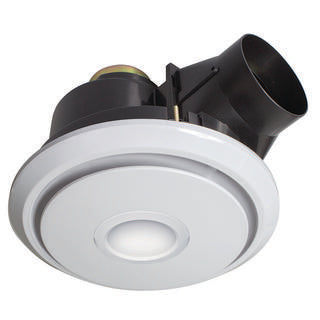 Boreal small 270mm round exhaust fan with LED light white