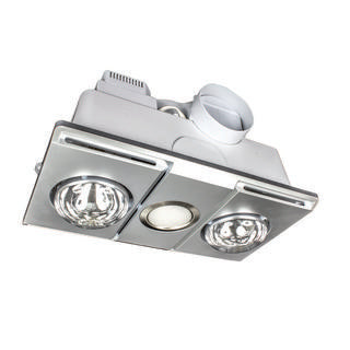 Supernova 2+1 light 3-in-1 bathroom mate silver