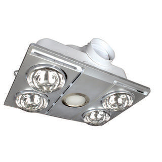 Supernova 4+1 light 3-in-1 bathroom mate silver