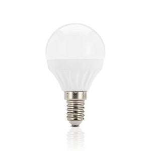 Fancy round LED bulb 3W 3000K frosted E14