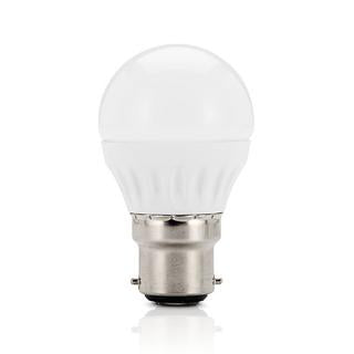 Fancy round LED bulb 3W 3000K frosted B22