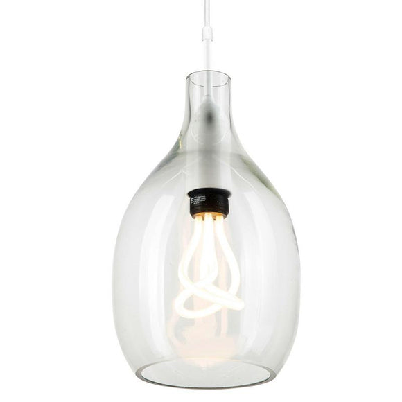 Lisser 230mm glass pendant clear