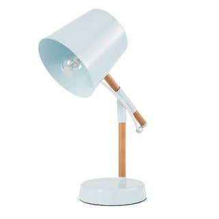 Titch 310mm scandi desk lamp blue