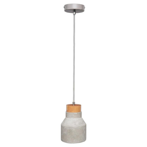 Imogen 120mm concrete pendant with timber stopper