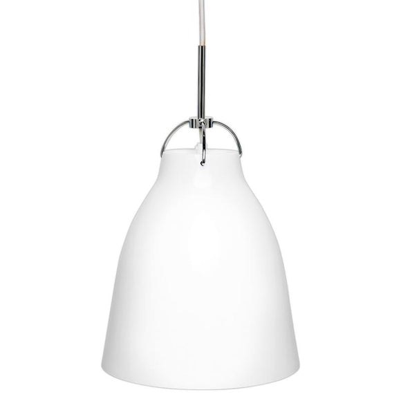 Finn 250mm gloss metal pendant white