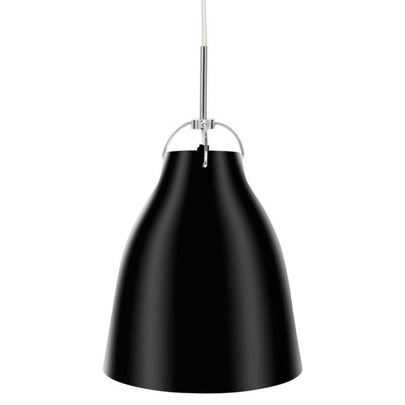 Finn 250mm gloss metal pendant black
