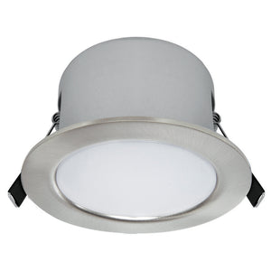 Trademate dimmable LED downlight 12W warm white 3000K brushed nickel