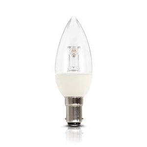 Candle LED bulb 4W 3000K clear B15