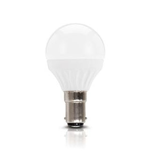 Fancy round LED bulb 3W 3000K frosted B15