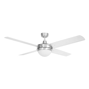 "BRILLIANT TEMPEST-II ALUMINIUM 52"" CEILING FAN W/2xB22 LIGHT"