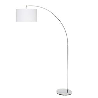 Noah 1700mm arch floor lamp chrome withwhite shade