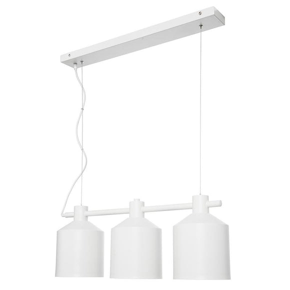 Syphon 3 light industrial pendant white